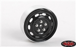 "RC4WD Stamped Steel 1.7"" 10-Oval Hole Wheels (Black) (4)"