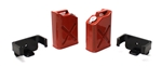 Racers Edge 1/10 Scaler Plastic Gasoline Jugs (2) Red