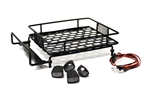 Racers Edge 1/10 Scaler Metal Grid Roof Rack Oval Lights Black