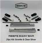 REEF'S RC Sway Bar Kit Clear / Silver Anodized