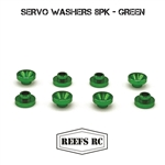 Reef's RC Servo Washers 8pk- Green