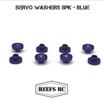 Reef's RC Servo Washers 8pk- Blue