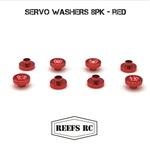 Reef's RC Servo Washers 8pk- Red