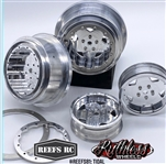 Reef's RC Tidal Beadlock Drag Wheels with Rings and Hardware (4 pcs)