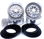 "Reef's RC 1.9"" Fury Off-Road Beadlock Wheels with Black Rings and Hardware (4pcs)"