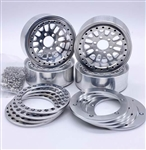 "Reef's RC 1.9"" Fury Off-Road Beadlock Wheels with Silver Rings and Hardware (4pcs)"
