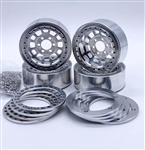 "Reef's RC 1.9"" Hammer Off-Road Beadlock Wheels with Silver Rings and Hardware (4pcs)"
