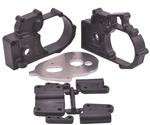 RPM Hybrid Gearbox Housing and Rear Mounts (Black) Stampede/Rustler/Slash 2wd