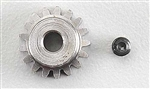 "Robinson Racing Metric 1/8"" Shaft Pinion Gear 17T Mod 0.6"