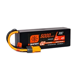 Spektrum 5000mAh 4S 14.8V 30C Smart G2 Hardcase LiPo Battery - IC5
