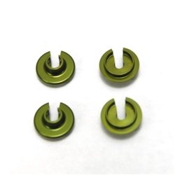 STRC CNC Machined Aluminum Lower Shock Spring Retainers (4 pcs) (Green) Yeti Wraith