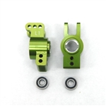 STRC 1 DEG REAR HUB CARRIERS W/ BEARINGS FOR EXO BUGGY (GREEN)