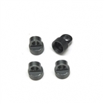 STRC CNC Machined Aluminum Upper Shock Caps (4pcs) for Vaterra Ascender Gun Metal