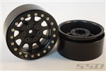 "SSD RC 1.9"" Steel D Hole Wheels (Black) (2)"