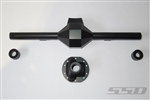 SSD RC Wide Diamond Centered Rear Axle for Yeti (Black)
