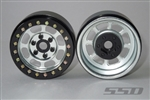 SSD RC 1.9 Steel Trail Beadlock Wheels (Silver) (2)