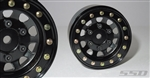"SSD RC 1.55"" Steel D Hole Beadlock Wheels (Black) (2)"