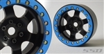 "SSD RC 2.2"" Rock Racer Beadlock Wheels (Black) (2)"