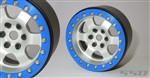 "SSD RC 2.2"" Rock Racer Beadlock Wheels (Silver) (2)"