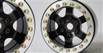 SSD RC 1.9 Rock Racer Beadlock Wheels (Black / Silver) (2)