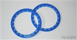 SSD RC 2.2 Blue Beadlock Front Rings (2)
