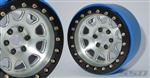 "SSD RC 2.2"" D Hole PL Beadlock Wheels (Silver) (2)"