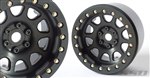 "SSD RC 2.2"" D Hole Beadlock Wheels (Black) (2)"