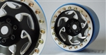 SSD RC 2.2 Champion PL Beadlock Wheels (Black / Silver) (2)