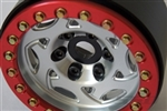 "SSD RC Single 1.9"" Champion Beadlock Wheel (Silver / Red) (1)"