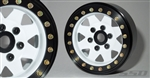 "SSD RC 1.9"" Steel 8 Spoke Beadlock Wheels (White)"