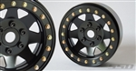 "SSD RC 1.9"" Steel 8 Spoke Beadlock Wheels (Black)"