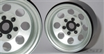 "SSD RC 1.9"" Steel 8 Hole Beadlock Wheels (Silver) (2)"