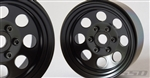 "SSD RC 1.9"" Steel 8 Hole Beadlock Wheels (Black) (2)"
