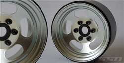 "SSD RC 1.9"" Steel Slot Beadlock Wheels (Silver) (2)"