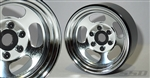 "SSD RC 1.9"" Steel Slot Beadlock Wheels (Chrome) (2)"