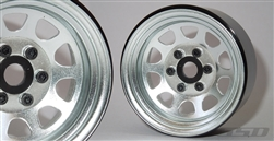 "SSD RC 1.9"" Steel Stock Beadlock Wheels (Silver) (2)"
