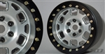 "SSD RC 2.2"" Contender Beadlock Wheels (Silver) (2)"