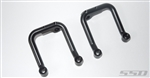 SSD RC Trail King Aluminum Front Shock Hoops (Black)