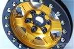 "SSD RC Single 1.9"" Challenger Beadlock Wheel (Gold) (1)"