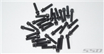 SSD RC M2.5 x 10mm Scale Wheel Bolts (Black) (30)