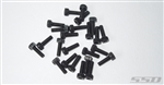 SSD RC M2.5 x 8mm Cap Head Screws Black (24)