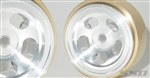 "SSD RC 1.0"" Aluminum / Brass Slot Wheels (2)"