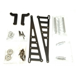 STRC Aluminum Wheelie Bar Kit for Associated DR10 - Black