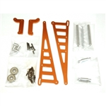 STRC Aluminum Wheelie Bar Kit for Associated DR10 - Orange