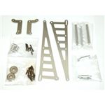 STRC Aluminum Wheelie Bar Kit for Associated DR10 - Silver