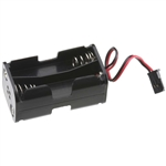 Tactic 4 Cell AA Battery Holder w/Futaba J Connector