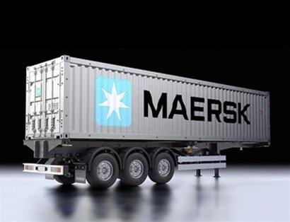 Tamiya 1 14 40ft Maersk Container Semi Trailer Kit
