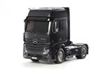 Tamiya RC 1/14 Mercedes-Benz Actros 1851 GigaSpace Semi Truck Kit - Black Edition