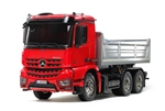 Tamiya RC 1/14 Mercedes-Benz Arocs 3348 6x4 Tipper Truck Red / Silver Edition