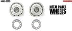 Tamiya RC Metal Plated Wheels - 30mm/Matte Finish/Bearing